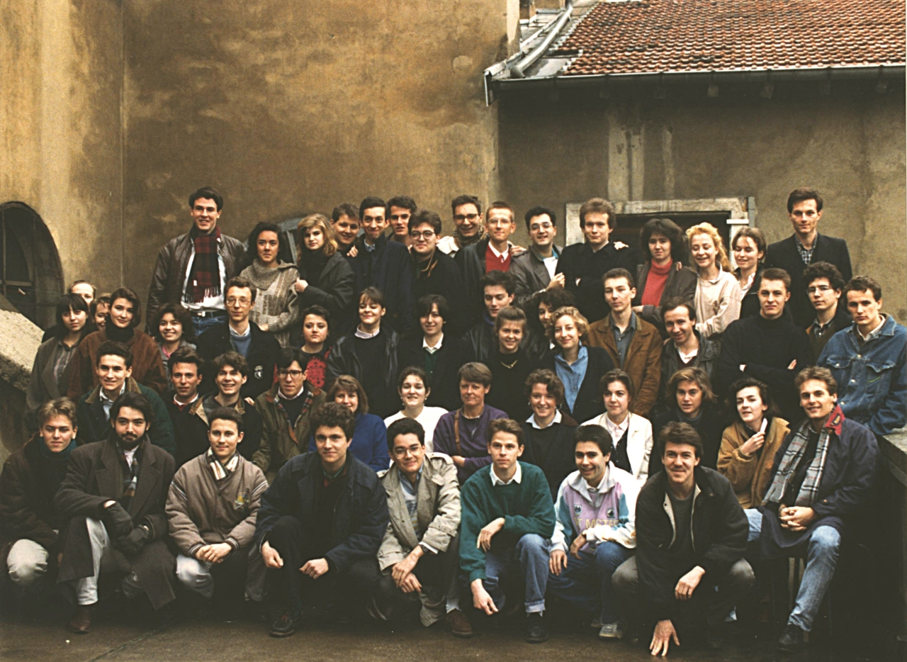 photo classe préparatoire HEC option générale lycée Ampère Lyon 1986-1988